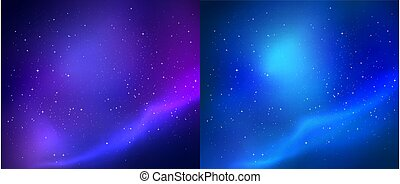 Outer space vector backgrounds