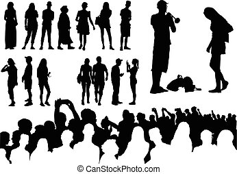 Over fifty silhouettes