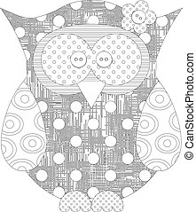 owl coloring page.eps