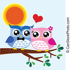 owl valentine card design