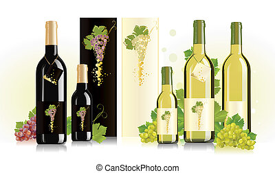 Packages for white and red wine