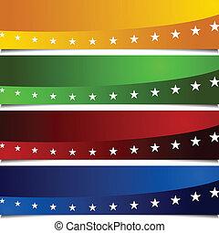 Page Peel Patriotic Banners