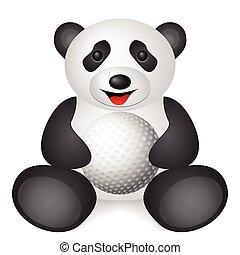 panda golf ball
