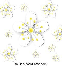 Paper flower background