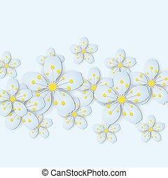 Paper flower background.