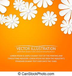 Paper flower postcard.