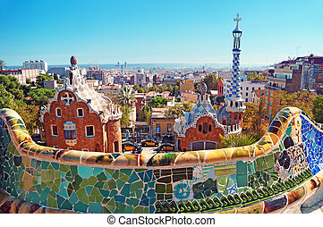 Park Guell in Barcelona - Spain