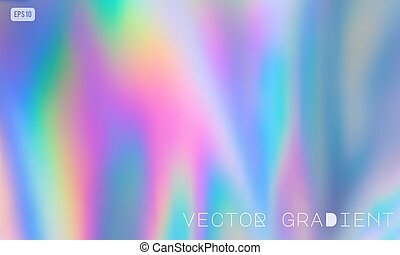 Abstract Modern pastel colored holographic vector gradient background in 80s style. Synthwave. Vaporwave style. Retrowave, retro futurism, webpunk