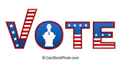 Patriotic 2020 Voting Poster. Vote Template