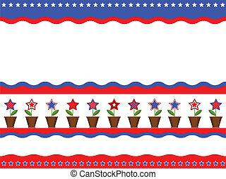 Patriotic American background.