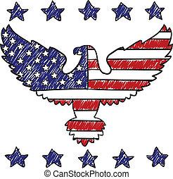 Patriotic American Eagle sketch
