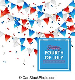 Patriotic Happy Fourth of July card design
