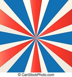 Patriotic starburst wallpaper vector