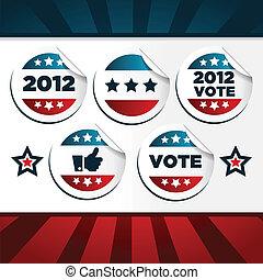 Patriotice Voting Stickers