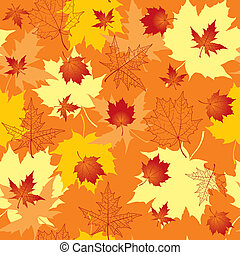Pattern of maple leaves