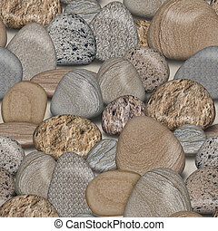 Pebble Rocks Seamless Tile Pattern Background Illustration