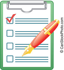Pen and blank. Vector art in EPS format.