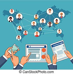 People and social network