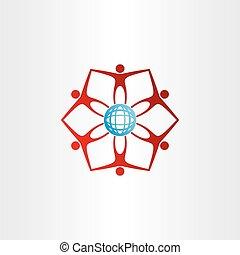people around golbe network icon