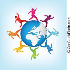 People around the world Africa-Euro