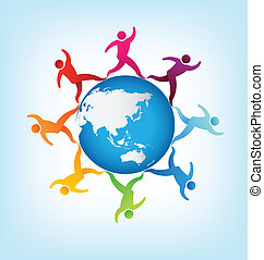 People around the world Asia-austra