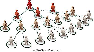 people in tree network