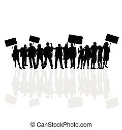 people vector silhouette illustration