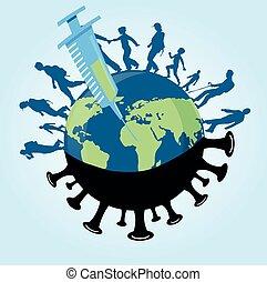 people walk around the world after the coronavirus covid-19