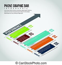 Phone Graphic Bar Infographic