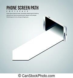 Phone Screen Path Copyspace
