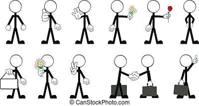 pictograms stick man vector 3