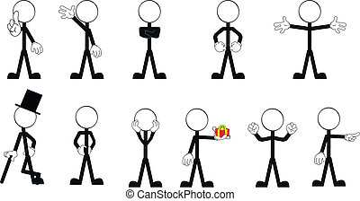 pictograms stick man vector set 2
