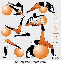 Pilates Silhouettes Set