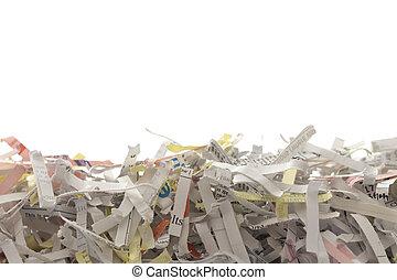 pile of shredded documents