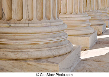 Pillars of Law and Information at the United States Supreme Court in Washington DC