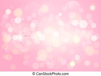 Pink bokeh background, abstract with defocused lights.