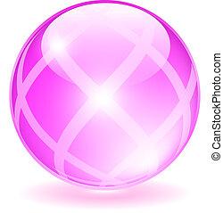 Pink glass orb