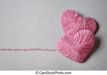 Pink heart shape