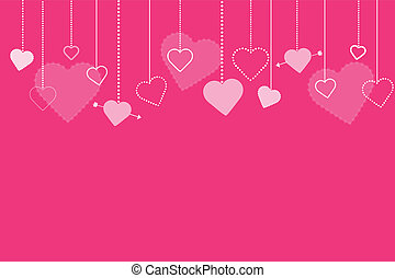 Pink Valentines Background Image
