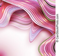 pink vector abstract background with waves