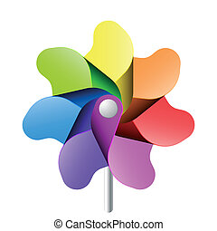 Vector illustration of a pinwheel toy