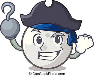 Pirate golf ball character cartoon