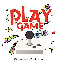 Play Game Joystick Shooting Star Background Vector Image