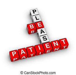 Please Be Patient crossword puzzle