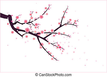a plum or cherry blossom tree pattern