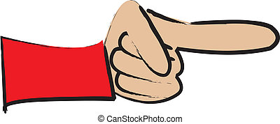 simple cartoon drawing of a pointing finger
