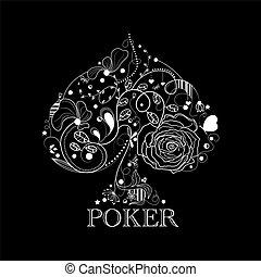 Vintage poker pattern