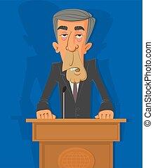 politician on the podium
