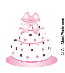 Beautiful cake with polka dots for any occasions.