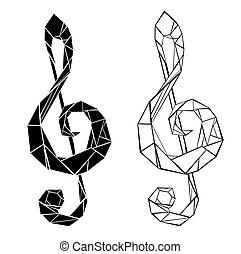 Polygonal musical symbol